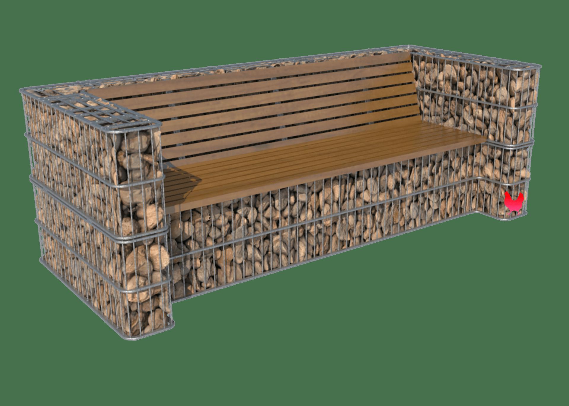 sofa i gabion