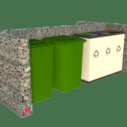 Tosidig avfallsskjerm i gabion 1