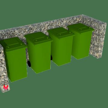 Stor avfallsskjerm i gabion 5