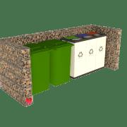 Stor avfallsskjerm i gabion 2