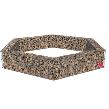 Hexagonformet gabion