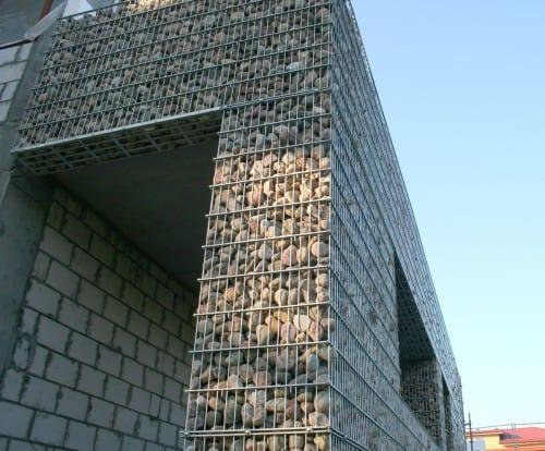 ECCOfence som designelement på bygning